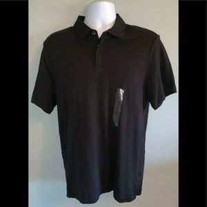 NWT Men's M Perry Ellis Principle Black S S Polo